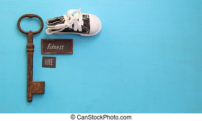 fitness is life, tag and sneakers, art style - fitness is...