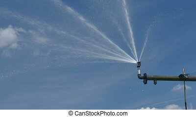 Watering system sprinkler - Closeup of Irrigation system...