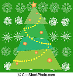 Christmas tree in green