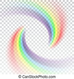 Rainbow icon cartoon isolated white background - Rainbow...