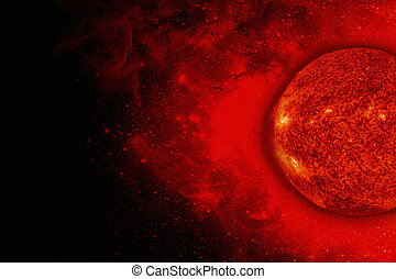 Solar System - Sun. Elements of this image furnished by...