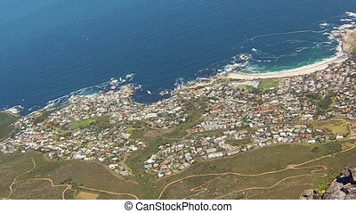 Bantry Bay Cape Town - Aerial view of Bantry Bay near Cape...