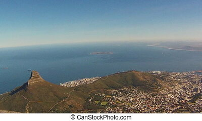 Lion's Head Cape Town - Aerial view of Lion's Head during a...