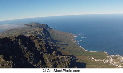 Table Mountain National Park, Trail Hike. Aerial view of the...