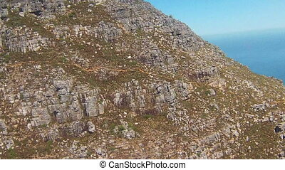 Aerial Cableway Cape town - The Cable Car down from Table...