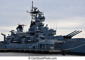 USS New Jersey (BB-62) in Camden, New Jersey, USA