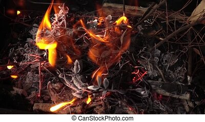 Wood and Coal Fire
