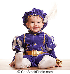 Cheerful toddler in a carnival suit - A portrait of a...
