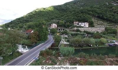 Lake house. In Montenegro, in the village of Morinj