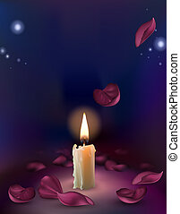 set of realistic white burning candles isolated on a transparent background.