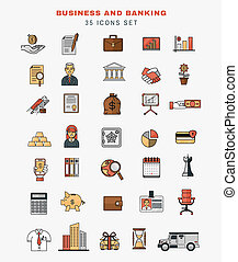 Set of icons and elements of application development