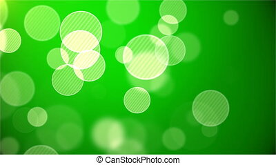 Green abstract background with bokeh. Loop animations. With a central location for the text .