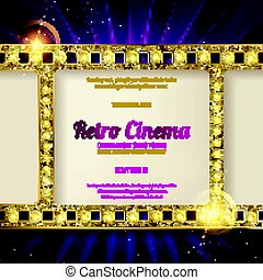 gold film on the curtain backdrop. - gold film on the purple...