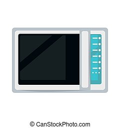 Modern microwave oven - Vector illustration of white colored...