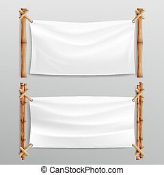 Bamboo Frame With Realistic Paper Background. For Your...
