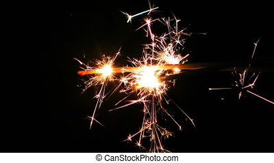 Spark Firework Background
