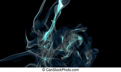 Abstract Colorful Fluid Smoke Element Turbulence