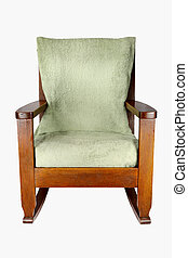 Rocking Chair - Isolated old-fashioned Rocking Chair