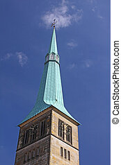 Church Spire - Copper clad church spire in Hamlin, Germany