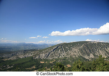 Mont Ventoux - View from the Mont Ventoux area, Southern...
