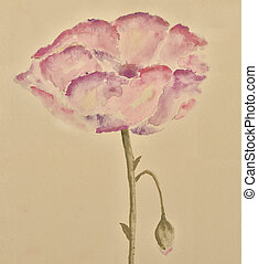 Flower watercolor painting - Image of the watercolor...