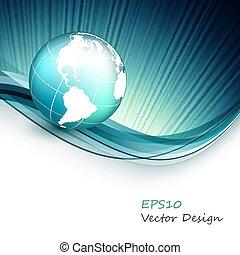 vector wavy design elements