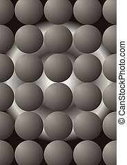 Sphere. - Rubber sphere in the form of a ball, on an...