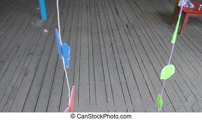 beautiful design of the veranda of the kindergarten balloons...