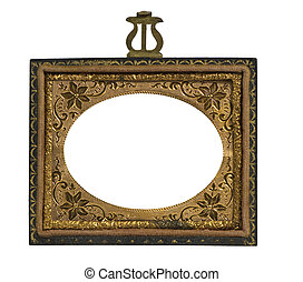 daguerreotype picture frame - antique metal daguerreotype...
