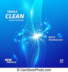 Laundry detergent ads - Triple clean. Package design...