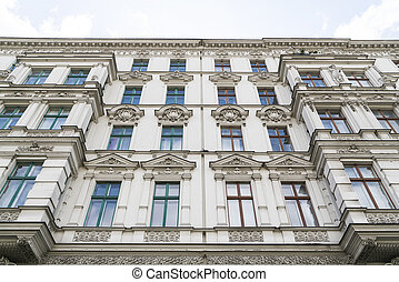beautiful old house with stucco in Berlin , Kreuzberg