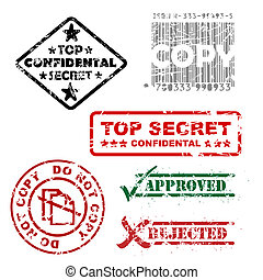 Top secret and other stamps