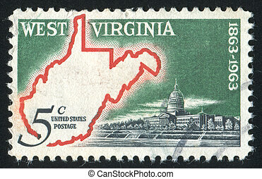 stamp - UNITED STATES - CIRCA 1963: stamp printed by United...