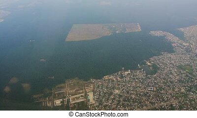 Belgrade from the aircraft - Belgrade aerial. Belgrade from...