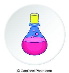 Bulb icon, flat style - Bulb icon. Flat illustration of bulb...