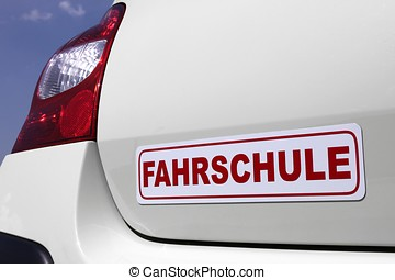 driving school car sign - magnetic German driving school car...