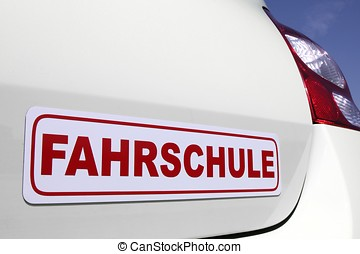 driving school car sign - magnetic German driving school car...