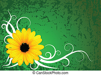 Fresh grunge flower background