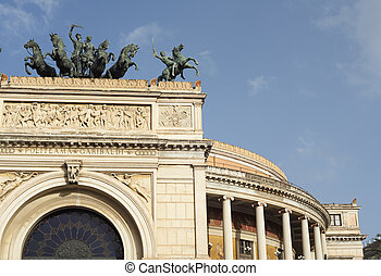 Politeama theater in Palermo - View of the Politeama theater...