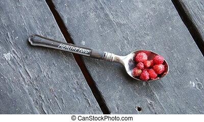Healthy food idea. Vintage style. - Healthy food concept,...