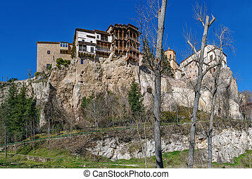 Hanging houses, Cuenca, Spain - Hanging houses is complex of...