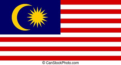 Flag of Malaysia, vector illustration Official symbol of the...