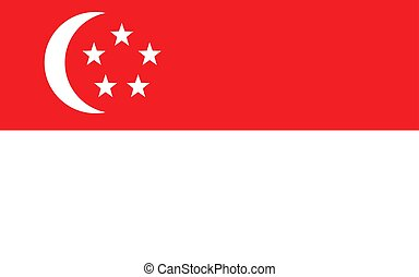 Flag of Singapore Official symbol of the country