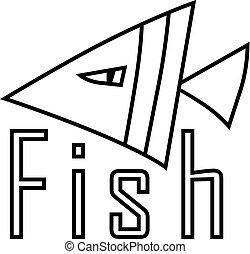 abstract fish. vector