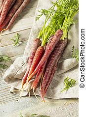 Raw Organic Heirloom Purple Carrots