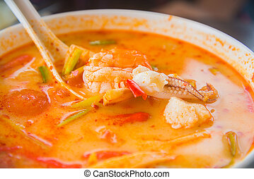 tomyumkung (spicy shrimp curry)