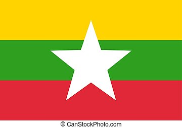 Flag of Myanmar Official symbol of the country