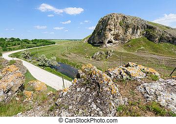 Cave in toltre near the Butesti village, Moldova - Toltre...