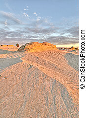 Mungo NP - Erosion patterns in the dunes of Mungo National...