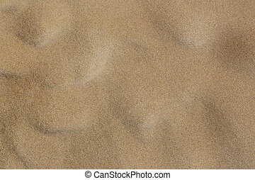 Surface of sand with small troughs